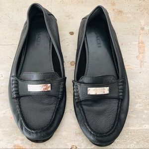 ♥️ Coach ♥️ Fredrica Black Leather Loafers